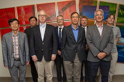 The ASAC Review Committee: (back row, from left) Yuke Tian, Bob Laxdal, Soren Prestemon, Kay Kasemir; (front row, from left) Sang-ho Kim, Stuart Henderson, Yatming Roberto Than, John Galambos. Not photographed: Thomas Roser.