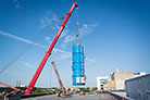 Civil construction continues 10 weeks ahead of schedule; cryogenic cold box delivered in August