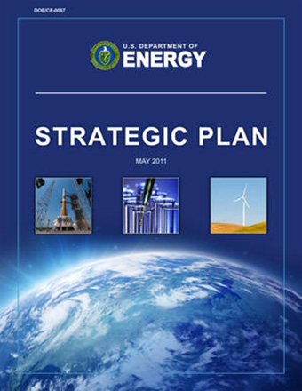 The front cover of the U.S. Department of Energy's Strategic Plan.