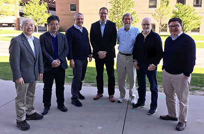 The ESAC Review Committee (from left): Yang Lee, Hiroki Okuno, Jim Kerby, Jens Dilling, Dave Harding, Jerry Nolen, and Patrick Hurh.