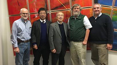 The ESAC Review Committee (from left to right): Jerry Nolen, Hiroki Okuno, I-Yang Lee, Dave Harding, and Jim Kerby.
