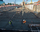 First concrete placed for Linac Tunnel Lid