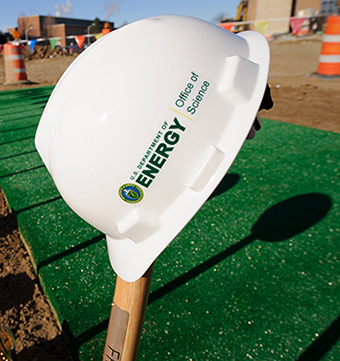 The FRIB groundbreaking was held 17 March, 2014.