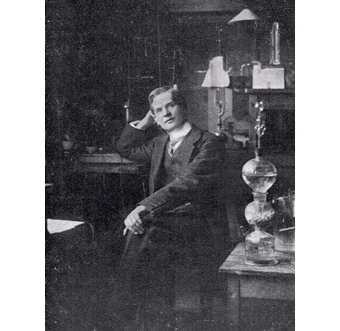 Frederick Soddy in his lab at the University of Glasgow.