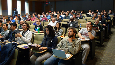 Students listen to a lecture during the FRIB TA Summer School on Machine Learning on May 23rd 2019.