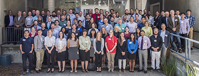 Pictured are members of the Nuclear Science and Security Consortium at a 2017 Workshop and Advisory Board Meeting at Lawrence Berkeley National Laboratory.