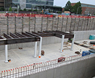 Structural steel installed for top of Linac Tunnel