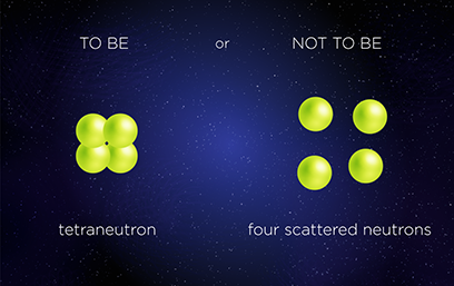 Images of a tetraneutron and four scattered neutrons
