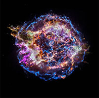 Cassiopeia A is a supernova remnant in the constellation Cassiopeia. (Image credit: NASA/CXC/SAO)