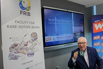 WJR's Paul W. Smith (above) broadcast his radio program live from FRIB on 9 May.
