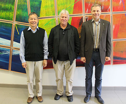 The Accelerator Traineeship Advisory Panel: (right to left): Alexander Chao, Michael Harrison, and Sergei Nagaitsev.